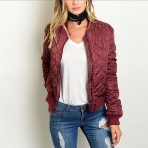 Jackets & Blazers - 1 SMALL LEFT! Quilted Bomber Jacket